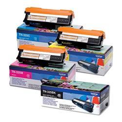 Brother TN325 Toner Cartridge Bundle Cyan, Magenta, Yellow, Black [Pack 4]