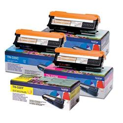 Brother TN320 Toner Cartridge Bundle Cyan, Magenta, Yellow, Black [Pack 4]