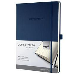 Sigel Concept Notebook Hardcover Lined 80gsm 194pp PEFC A4 Blue Ref CO647