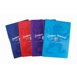 Oxford Campus Notebook Soft Cover Casebound Ruled & Margin 90gsm A4 Assorted Ref 400086324 [Pack 5]