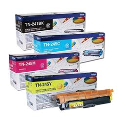 Brother TN245 Toner Cartridge Bundle Cyan, Magenta, Yellow, Black [Pack 4]