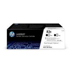 HP 83X (Yield 2200 Pages) High Yield Black Original LaserJet Toner Cartridge (Dual Pack) - £20 Cashback