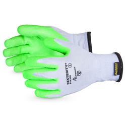 Superior Glove Dexterity 10-G Hi-Vis Latex Palm Green 6 Ref SUS10LXPB06