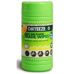 Dirteeze Glass & Plastic Trade Wipes Dispenser Tub 200x250mm Ref DXGP80 [70 Wipes]