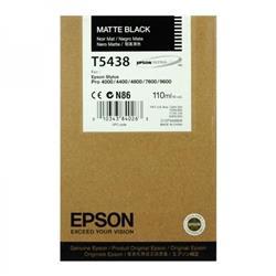 Epson UltraChrome T5438 Matte Black Ink Cartridge (110ml)