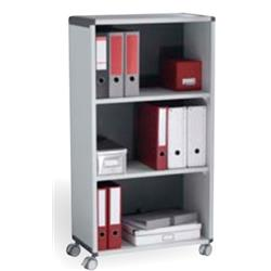Fast Paper Mobile 3 Compartment Bookcase Grey/Charcoal Ref F381K211