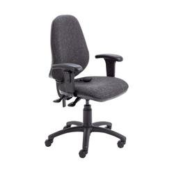 Calypso Ergo Chair With T Adjustable Arms - Charcoal Ref CH2810CH+AC1040