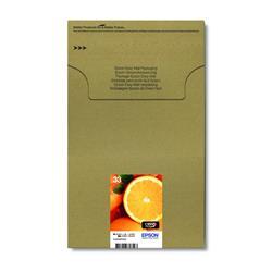 Epson Oranges 33 (Black 6.4 ml + Photo Black 4.5 ml + Cyan, Magenta, Yellow 4.5 ml) Claria Premium Multipack Ink Cartridges (EasyMail Pack) for Expression Premium XP-530/XP-630/XP-635/XP-830 Printers