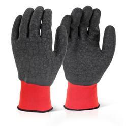 Click2000 Multi Purpose Latex Polyester Glove 07/Small Black Ref MP4FCS [Pack 100]
