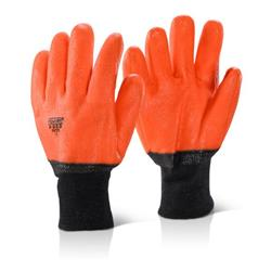 Click2000 PVC Freezer Glove Lined Orange Ref PVCFG [Pack 10]