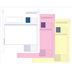 Sage Compatible Multipurpose Form 3 Part NCR Paper with Tinted Copies Ref SE03 [Box 750]