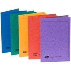 Europa Square Cut Folders Pressboard Foolscap Assorted Ref 4820 [Pack 50]
