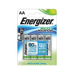 Energizer Eco Advance Batteries AA / E91 Ref E300130700 (Pack 4)
