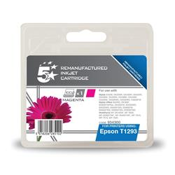 5 Star Office Remanufactured Inkjet Cartridge Capacity 7ml Magenta [Epson T12934011 Alternative]