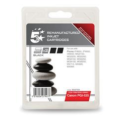 5 Star Office Remanufactured Inkjet Cartridge 323pp Black Twinpack [Canon PGI-525BK Alternative]
