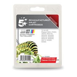 5 Star Office Remanufactured Inkjet Cartridge 3x545pp 3 Colour [Canon CLI-526 Alternative] [Pack 3]