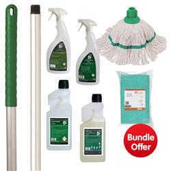 Kitchen Cleaning Bundle with Mop/Cloths/Cleaning Fluids - BUNDLE OFFER