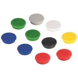 Franken Tacking Magnets Size 24mm Adhesive Force 300g Various Colours 10 Pieces