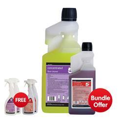 5 Star Facilities Dosing Floor Cleaner 1 Litre - Bundle Offer & FREE 4x Trigger Spray Bottles