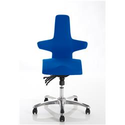 Saltire Posture Chair Blue Fabric Ref OP000208