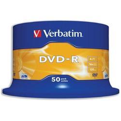 Verbatim DVD-R 4.7GB 16X Spindle Ref 43548 (Pack 50)