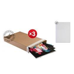 Blakes Slimline Postal Box Peel & Seal WxDxH 240x165x46mm Kraft Ref PPB20 [Pack 25] - x3 & FREE Premium Paper