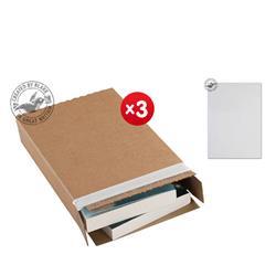 Blakes Slimline Postal Box Peel & Seal WxDxH 346x243x46mm Kraft Ref PPB40 [Pack 25] - x3 & FREE Premium Paper