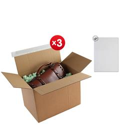 Blakes Postal Box Peel & Seal WxDxH 400x260x250mm Kraft Ref PEB60 [Pack 20] - x3 & FREE Premium Paper