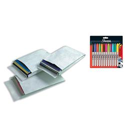 DuPont Tyvek Gusseted Envelopes Extra Capacity Strong C4 H324xW229xD20mm White Ref R4120 - Pack 100 - FREE Pack of Assorted Sharpie Pens