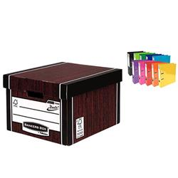 Bankers Box Premium Storage Box Classic FSC Woodgrain Ref 7250503 [12 for the price of 10] x2 - FREE Iderama Files